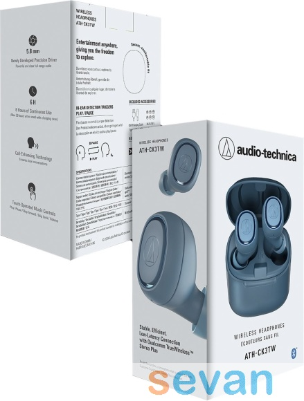 Наушники Audio-Technica ATH-CK3TW Blue